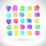 Abstract watercolor splash design element Stock Photos