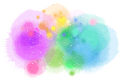 Abstract watercolor splash. Digital art painting.  stock illustration
