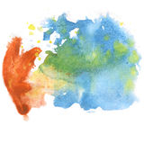Abstract watercolor splash. watercolor drop blue green brown isolated blot for your design art Royalty Free Stock Photography