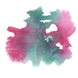 Abstract watercolor splash. watercolor drop green pink isolated blot for your design art. Abstract watercolor splash. watercolor drop green pink isolated blot Royalty Free Illustration
