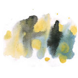 Abstract watercolor splash. watercolor drop isolated black yellow blot for your design art Royalty Free Stock Photography