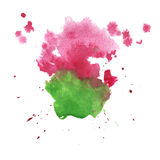 Abstract watercolor splash. watercolor drop isolated pink green blot for your design art. Abstract watercolor splash. watercolor drop isolated pink green blot Stock Illustration