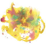 Abstract watercolor splash. watercolor drop isolated yellow violet blot for your design art. Abstract watercolor splash. watercolor drop isolated yellow violet Vector Illustration