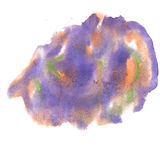 Abstract watercolor splash. watercolor drop purple brown isolated blot for your design art. Abstract watercolor splash. watercolor drop purple brown isolated Royalty Free Illustration