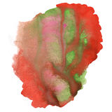 Abstract watercolor splash. watercolor drop red green isolated blot for your design art Stock Images