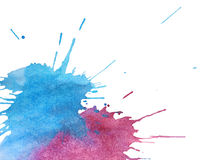 Abstract watercolor spots Royalty Free Stock Photos