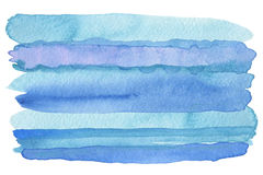 Abstract watercolor strip painted background. Royalty Free Stock Photo