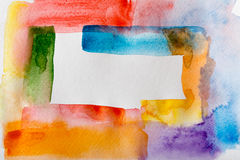 Abstract watercolor strokes painted texture background Stock Image