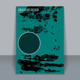 Abstract watercolor style brochure design royalty free illustration