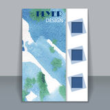 Abstract watercolor style brochure design stock illustration