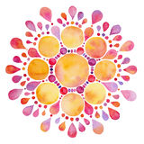 Abstract watercolor sun flower figure Stock Photography