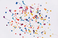Abstract watercolor texture in colorful is dots on white background. Abstract watercolor texture in colorful is dots on the white background royalty free stock photography