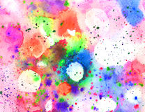Abstract watercolor texture with paint splatter Stock Photos