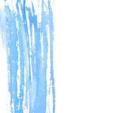 Abstract watercolor texture, pastel blue color. Painted brush strokes with copyspace at right. Background for wedding Royalty Free Stock Photography