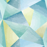 Abstract watercolor tiled geometric pattern. Stock Photos