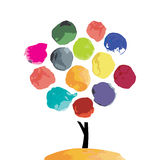 Abstract watercolor tree for your design Royalty Free Stock Photography