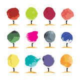 Abstract watercolor trees, place for your text Stock Photography