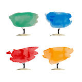 Abstract watercolor trees, place for your text Royalty Free Stock Images
