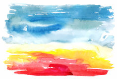 Abstract watercolor vector background Royalty Free Stock Photo
