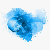 Abstract Watercolor vector heart Stock Image