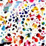 Abstract watercolor vector seamless pattern royalty free illustration
