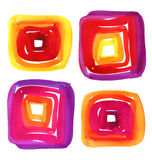 Abstract watercolor vector squares spot. Watercolor background for textures and backgrounds. Royalty Free Stock Photos