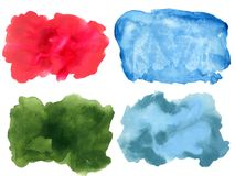 Abstract watercolor on white background gouache color splashing royalty free illustration