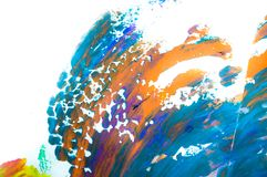 Abstract watercolor on white background, hand painted brush stroke Stock Photos