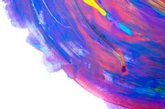 Abstract watercolor on white background, hand painted brush stroke Stock Images