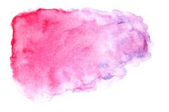 Abstract watercolor on white background, Watercolor splashing on the paper, Abstract painted illustration design decoration stock photo