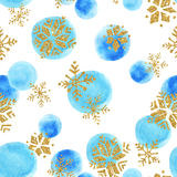 Abstract watercolor winter background. Stock Photos
