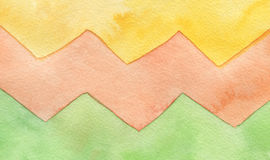 Abstract watercolor zigzag painted background. Royalty Free Stock Photography