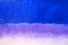 Abstract watercolors background of blue, lilac and white colors. Stock Images