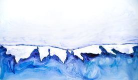 Abstract watercolour hand painted background. Watercolour stains, wash and splashes with space for text. Abstract watercolour hand painted background stock illustration