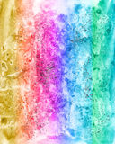 Abstract watercolour multicolor background for scrapbooking and Stock Images
