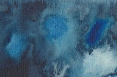 Abstract watercolour painting in blue Stock Images