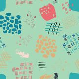 Abstract watercolour seamless pattern print background royalty free illustration