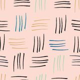 Abstract watercolour stripes pink seamless pattern print background royalty free illustration