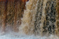 Abstract waterfall close up stock photo