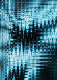 Abstract wave. Computer generated abstract digital sound waves background stock illustration