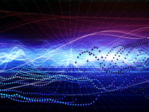 Abstract Wave Analyzer Stock Photo
