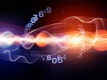Abstract Wave Analyzer Royalty Free Stock Image