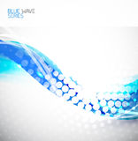 Abstract wave background. Blue abstract clean wave background Royalty Free Stock Photography