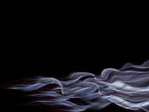Abstract wave background. Abstract flowing waves of smoke Stock Photos