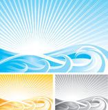 Abstract wave background Stock Photos