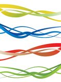 Abstract wave background. Bright illustration Stock Photo