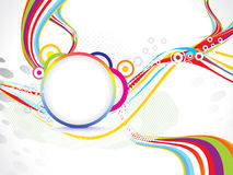 Abstract wave background with circle Stock Photos
