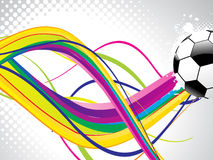 Abstract wave background with football Stock Photography