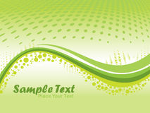 Abstract wave background, illustration Stock Image