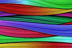 Abstract wave background. A lot color lines stock illustration